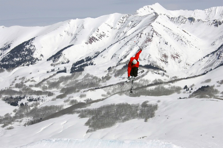 Big air at Crested Butte Mountain Resort - Photo: Casey Day